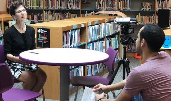 jon acosta interviewing video testimonials video production content creators lounge atlanta-min